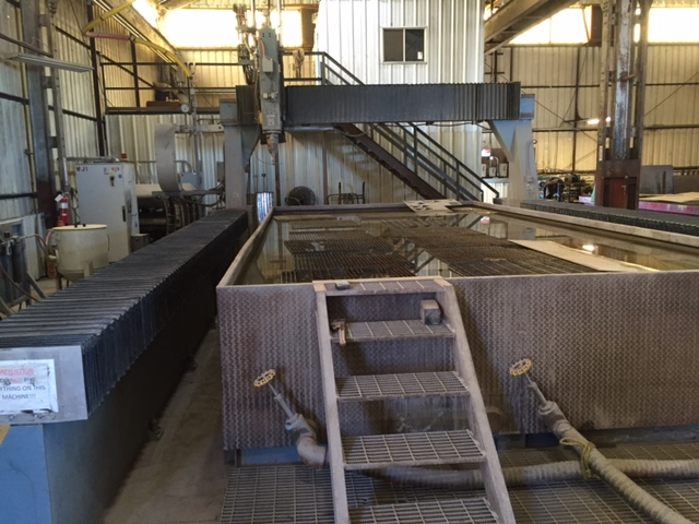 Flow 5-Axis Abrasive Waterjet, New 2001, 12' x 24' Table, Ebbco Recycling Unit, 7XSE-60 Intensifier, 60K PSI