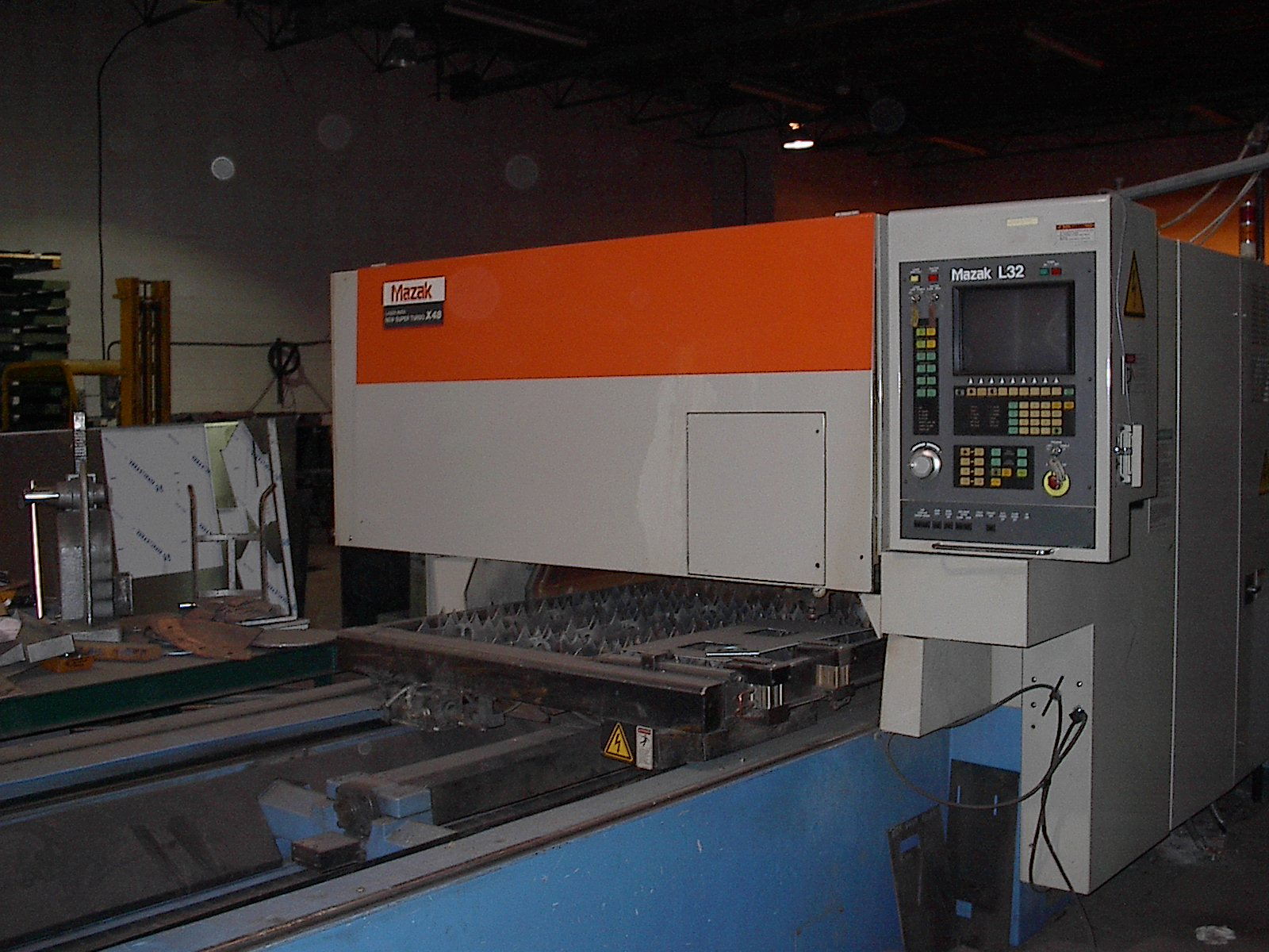 "1991 Mazak 1500W CO2 Laser, 96""x48""x4"", L32 Control"