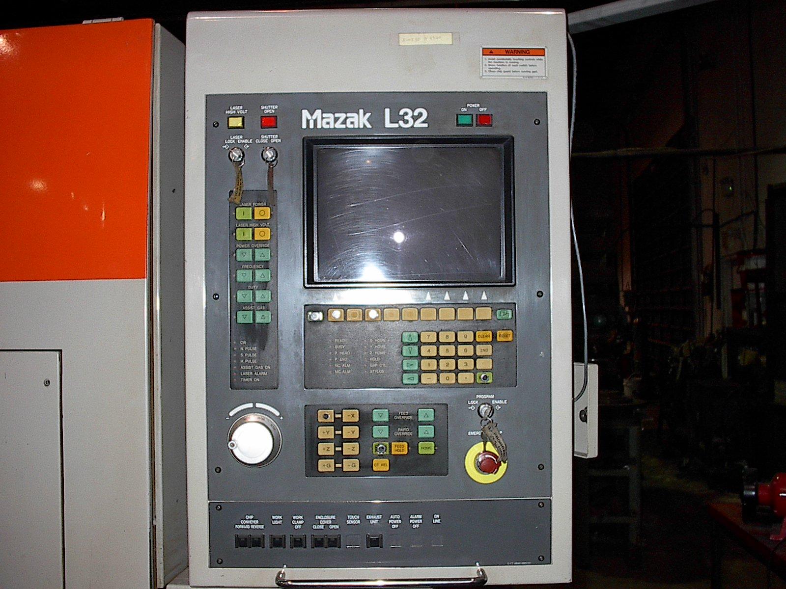 "MAZAK1991 Mazak 1500W CO2 Laser, 96""x48""x4"", L32 Control"