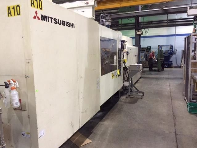 "Mitsubishi 950EM-160 Electric Hybrid Injection Molding, New 2002, 937Ton, 147Oz, 41.7""x41.7"" Tie Rods, 60.2""x60.2"" Platen, 69"" Clamp Stroke, Mac Controls, Hydraulic Core Pull"