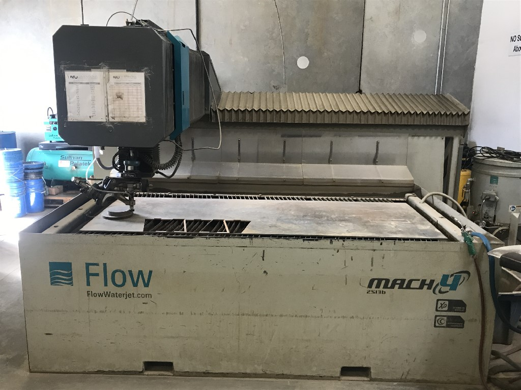 Flow 2513 Mach3 Dynamic w/ 100HP 94K PSI Pump FlowPro Software, XD Cutting Head, Pierce Assist, New ballscrews