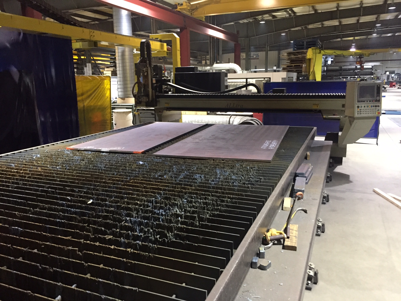 "Alltra PG14-12 Plasma Cutting, 12' x 21'6"", 2 Plates, HPR400XD Autogas HyPrecision, Burny 10 CNC Control, Height Control, Heat Shield, and more!"
