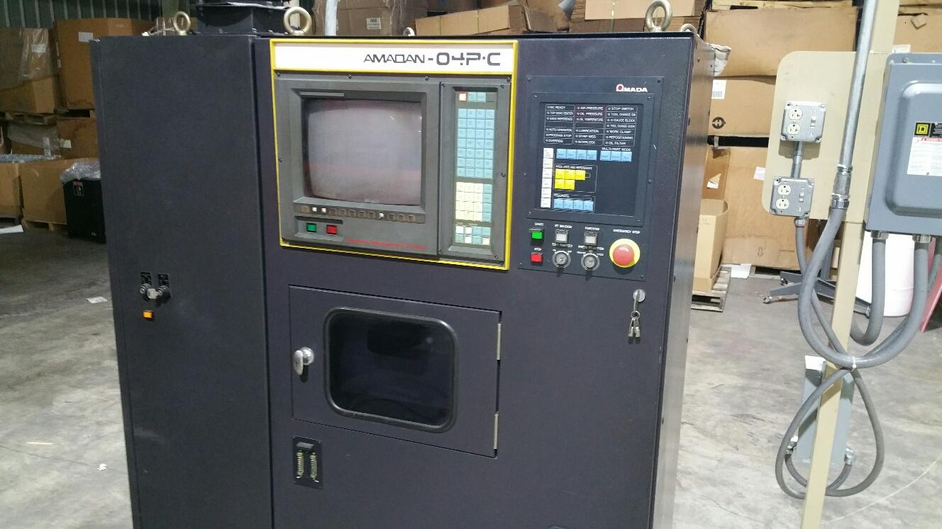 "AMADA33 Ton Amada Pega 345 King, 1995; 58 Station w (2) A/I, 40""x50"" Table, 1/4"" Sheet Thickness, Amadan 04PC CNC Ctrl, Ball Transfer Table"