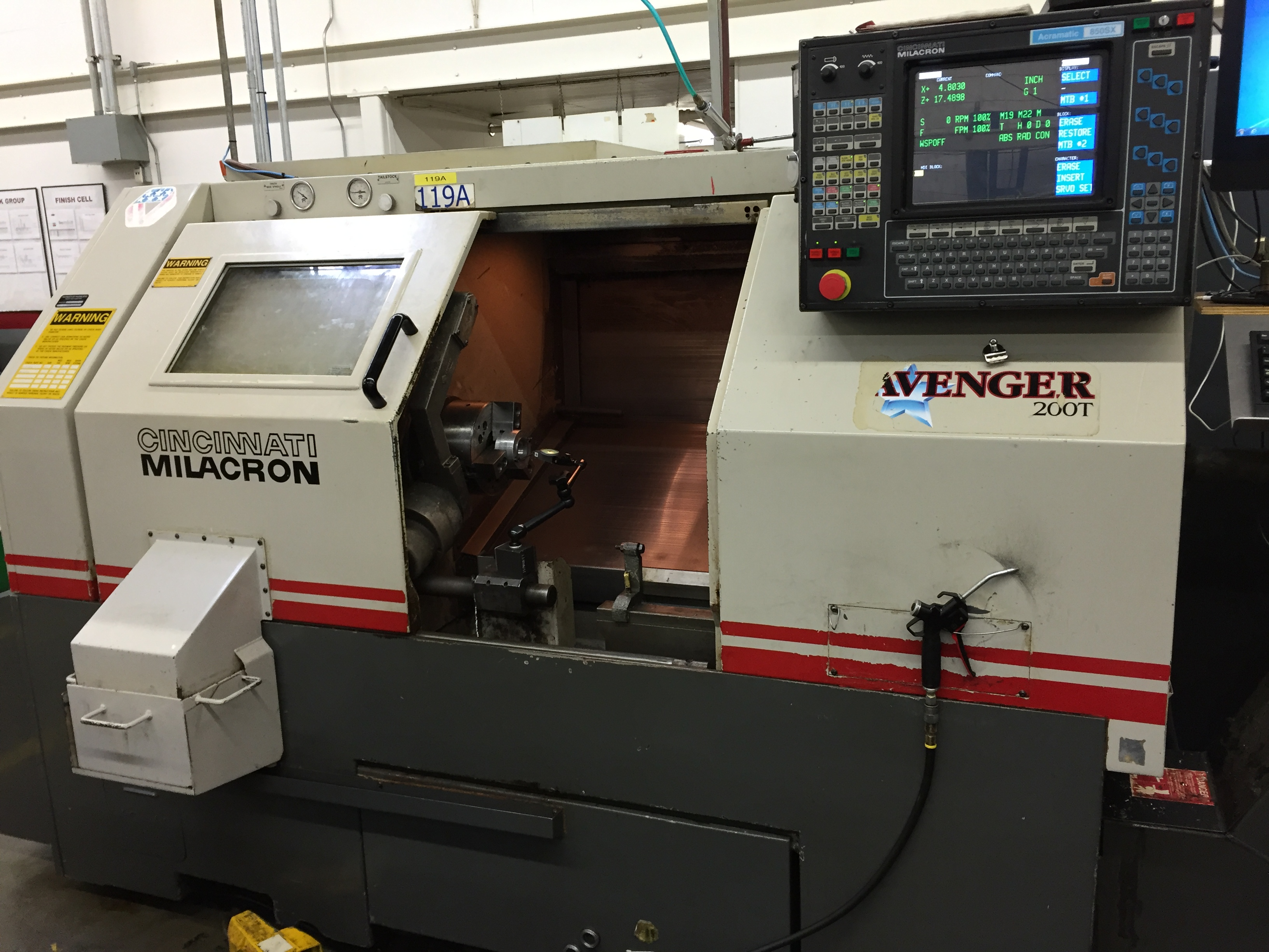 1998 Cincinnati Milacron 200T Avenger Turning Center