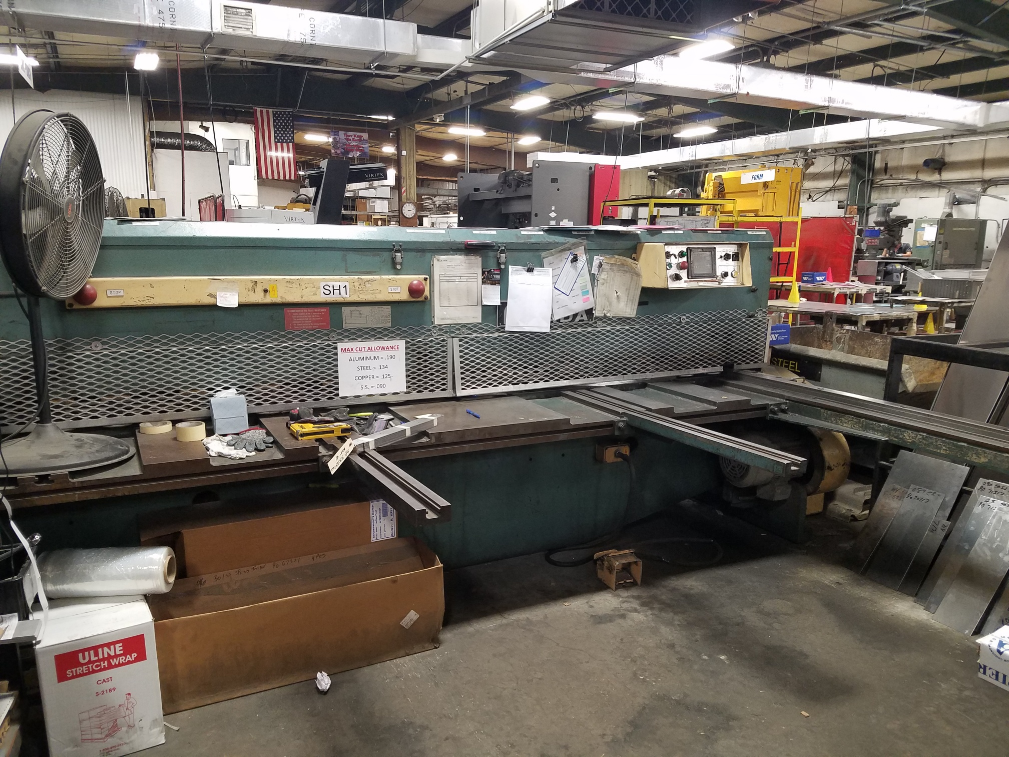 Amada M-3045 Power Squaring Shear, New 1981 10' x 3/16""