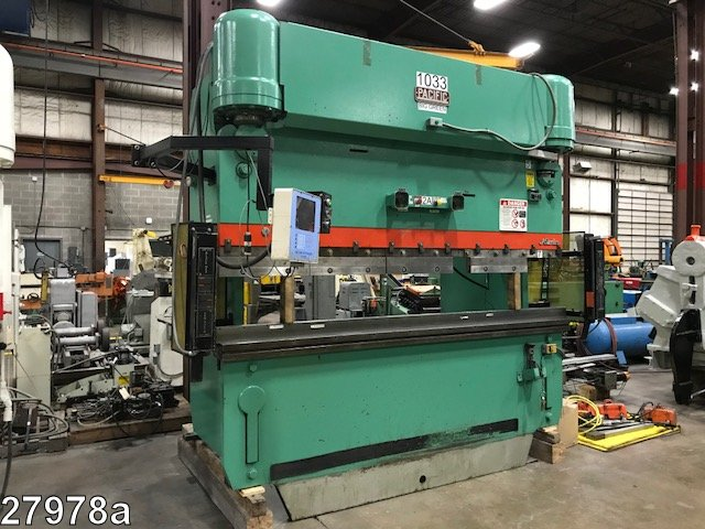 """Pacific 10' x 5/16"""", 225T, 10"""" Stroke, 21"""" Open, 3-Axis CNC"""