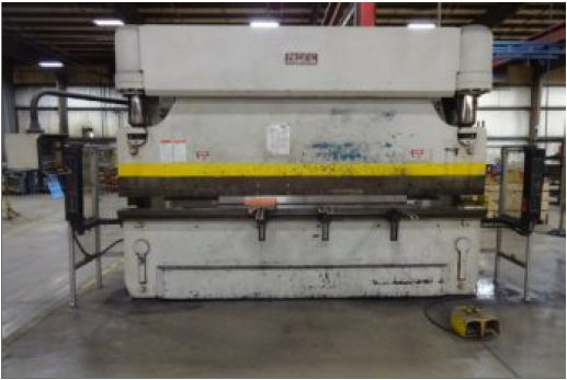 "Pacific 12' x 165T, 10'6"" Housings, Hurco Autobend 7 2-Axis CNC, Light Curtains, 30HP, 10"" Stroke, 7"" Throat"
