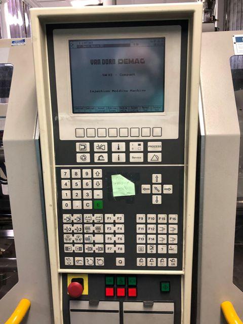 (1) USED 55 TON 2.9 OZ VAN DORN MODEL ET 500-120 COMPACT  INJECTION MOLDING MACHINE MFG  NEW: 1997