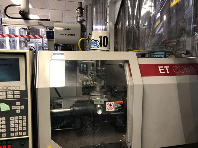 (1) USED 55 TON 2.9 OZ VAN DORN MODEL ET 500-120 COMPACT  INJECTION MOLDING MACHINE MFG  NEW: 1997