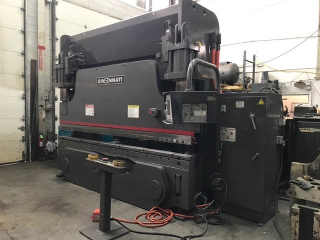 "Cinci 230 AF-10 Press Brake, 230T 12', 10"" Stroke, 8-Axis CNC, 6-Axis Gauge, Autoform Ctrl, Autocrown Deflection, Die Clamp Bolts on 6"" Centers, Power Clamping"