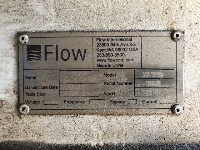 FLOWFlow Mach 2 1313B, 4'x4', 60K PSI, 3100 hours!