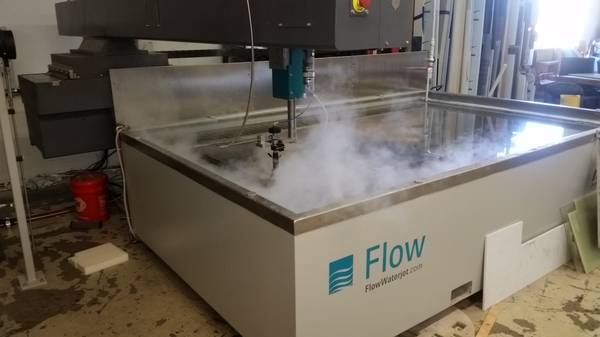 Flow Mach 2 2031b Waterjet, New 2016; 500 hours! 6' x 10', 55K PSI, Water Recovery, Ultrapierce