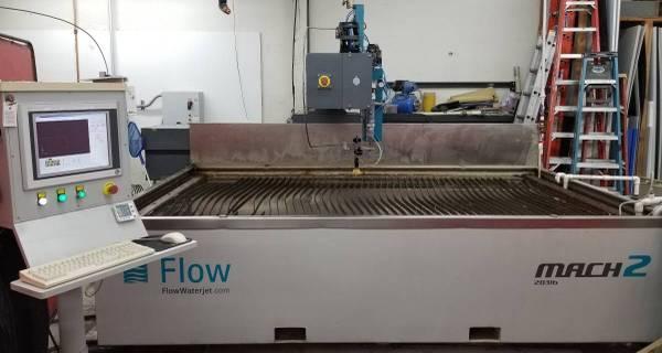 FLOWFlow Mach 2 2031b Waterjet, New 2016; 500 hours! 6' x 10', 55K PSI, Water Recovery, Ultrapierce