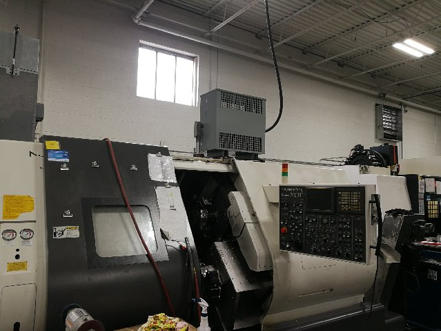2010 Nakamura-Tome Super NTM3 CNC Turning, Twin Spindle, 3-Turret, Y-Axis on both Upper, 5K RPM Turning, 6K RPM Milling, 36 Tool Station, Fanuc 16i-TB, Turbo Chip Conveyor, Transformer, High Pressure