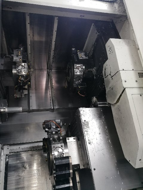 NAKAMURA-TOME2010 Nakamura-Tome Super NTM3 CNC Turning, Twin Spindle, 3-Turret, Y-Axis on both Upper, 5K RPM Turning, 6K RPM Milling, 36 Tool Station, Fanuc 16i-TB, Turbo Chip Conveyor, Transformer, High Pressure Coolant, & More