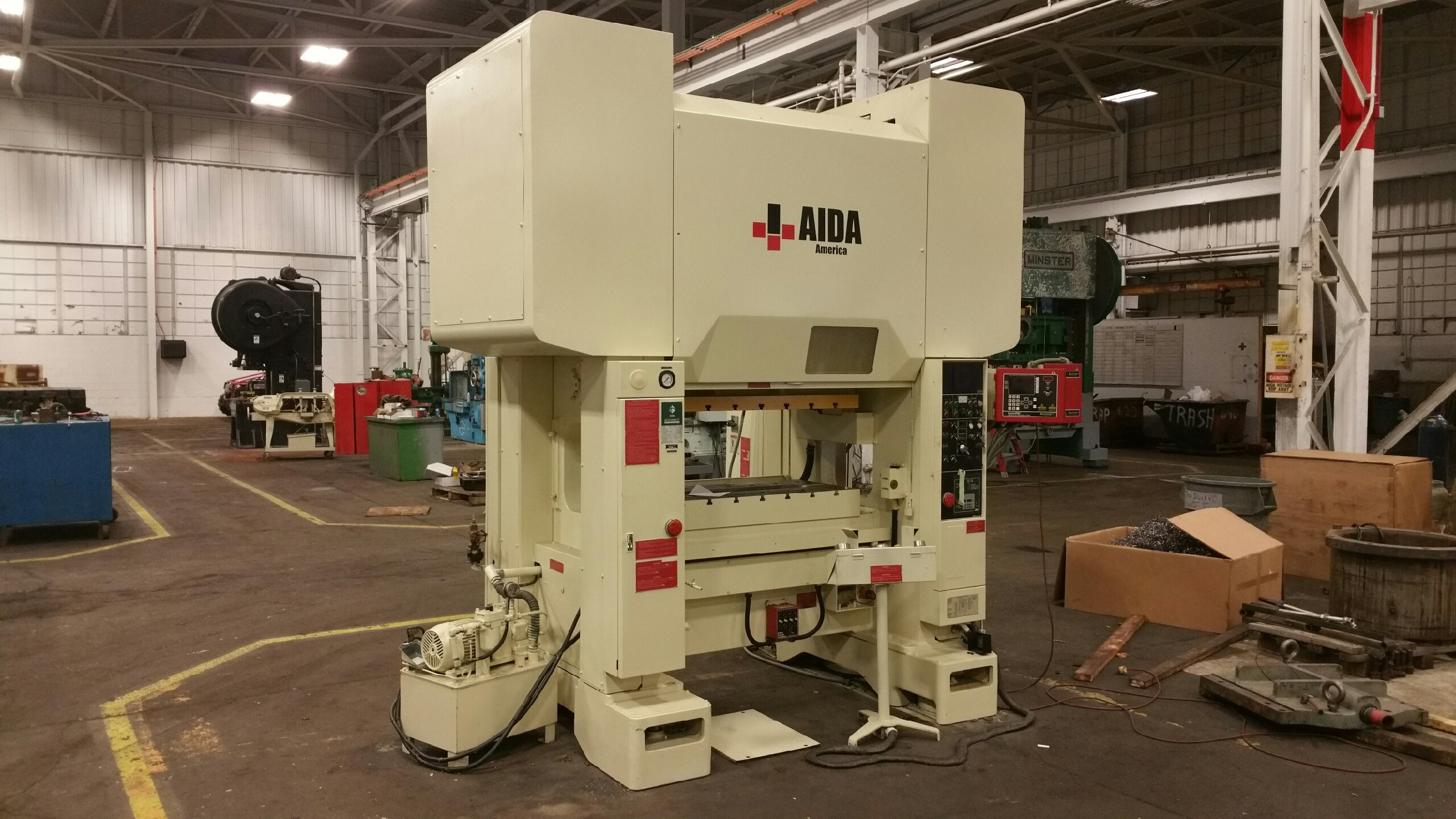110 TON  AIDA STRAIGHT SIDE PRESS