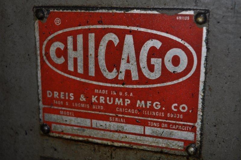 55 TON CHICAGO D & K PRESS BRAKE