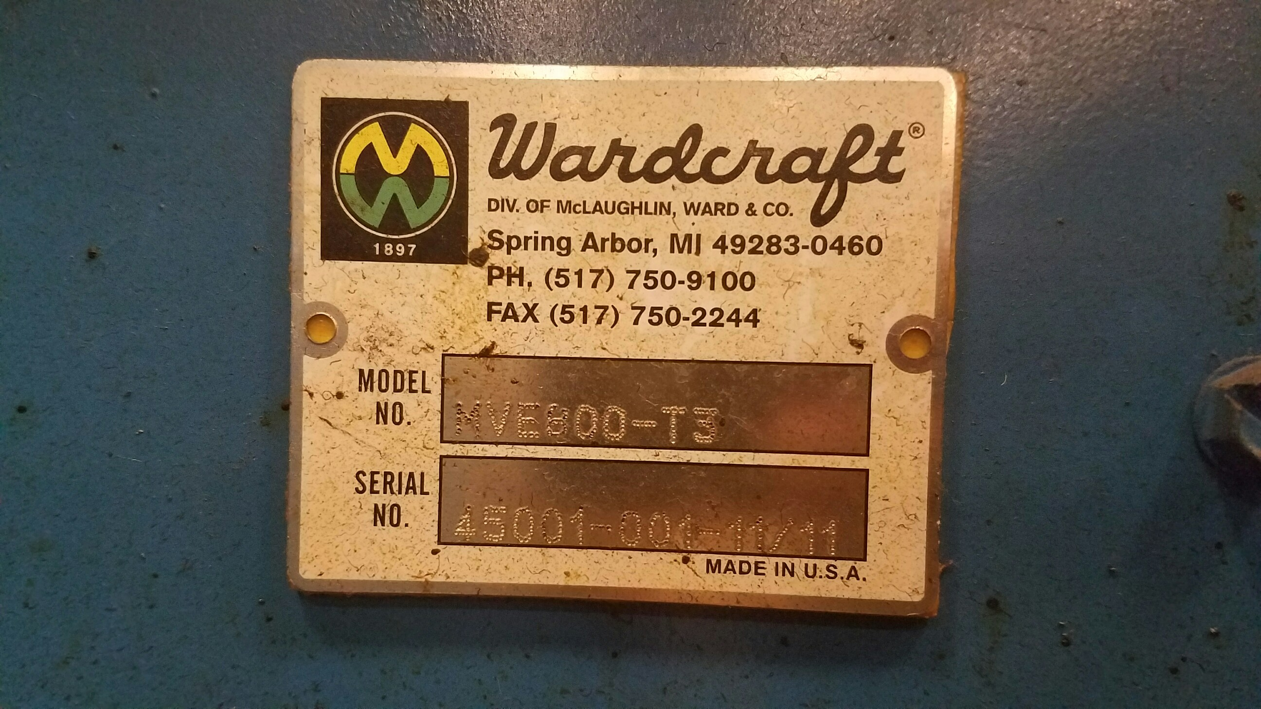 WARDCRAFT MAGNETIC CONVEYOR
