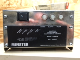 MINSTER UNIVERSAL EDDY CURRENT CLUTCH/BRAKE CONTROL