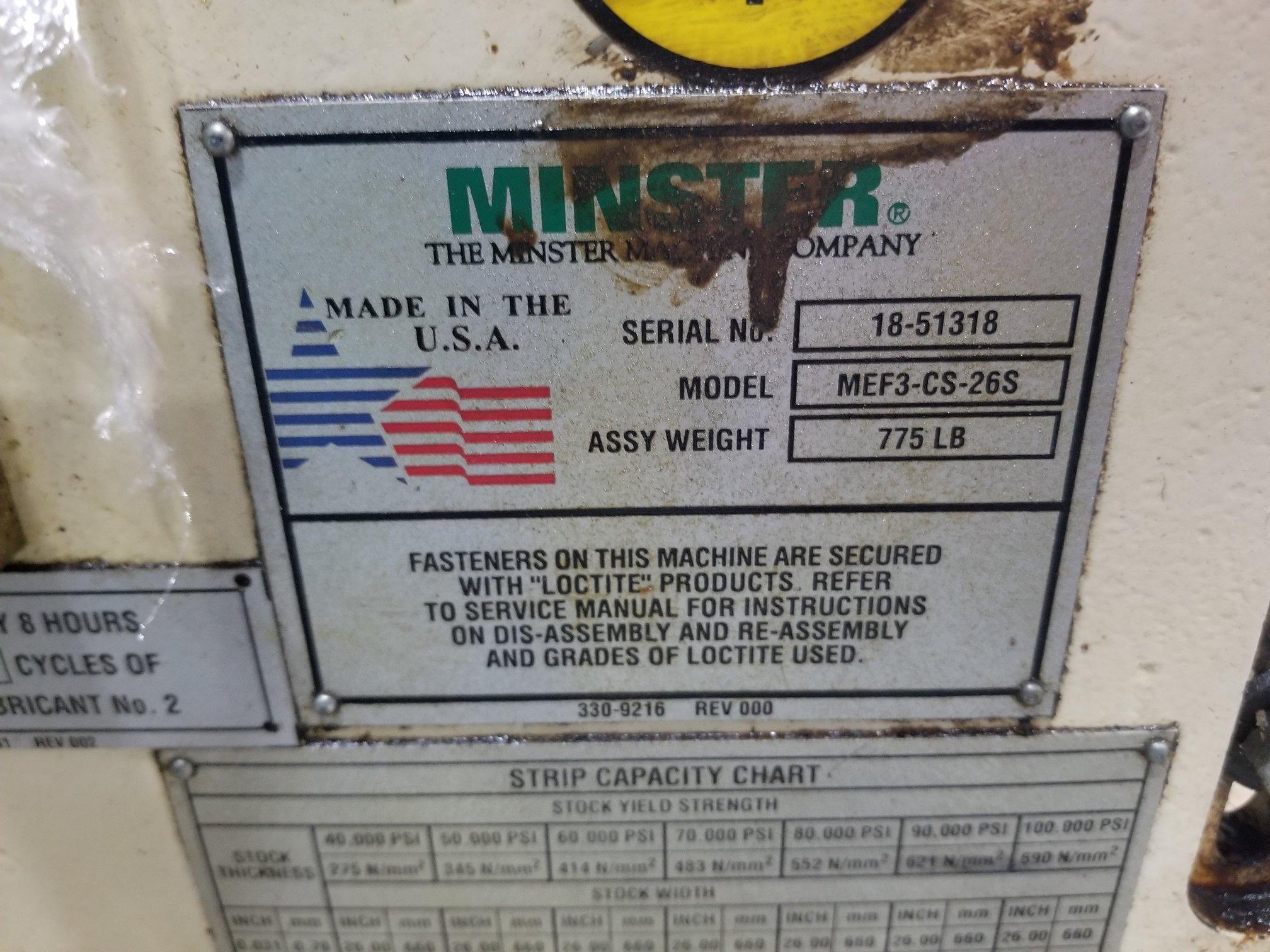 """MINSTER 26"""" FEEDER"""