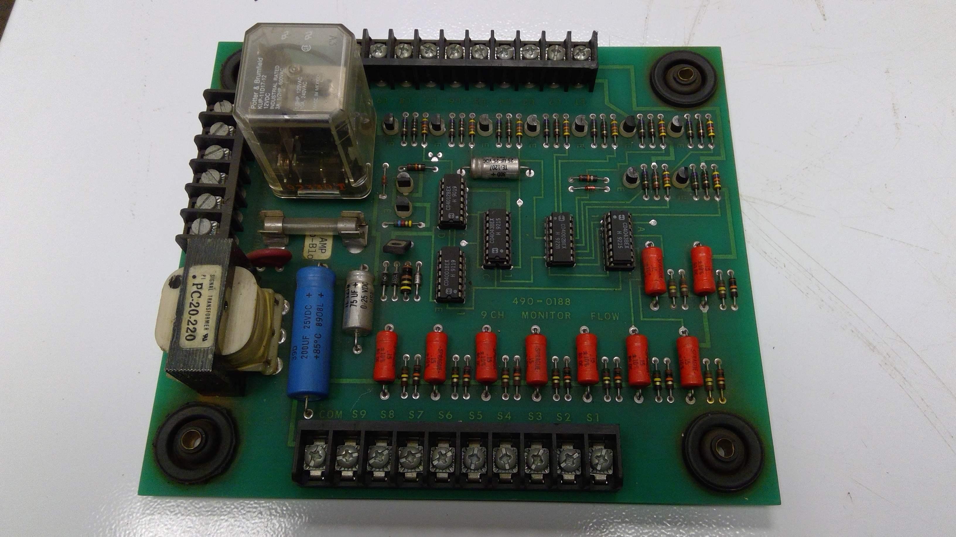 MINSTER 490-0188 FLOW MONITOR BOARD