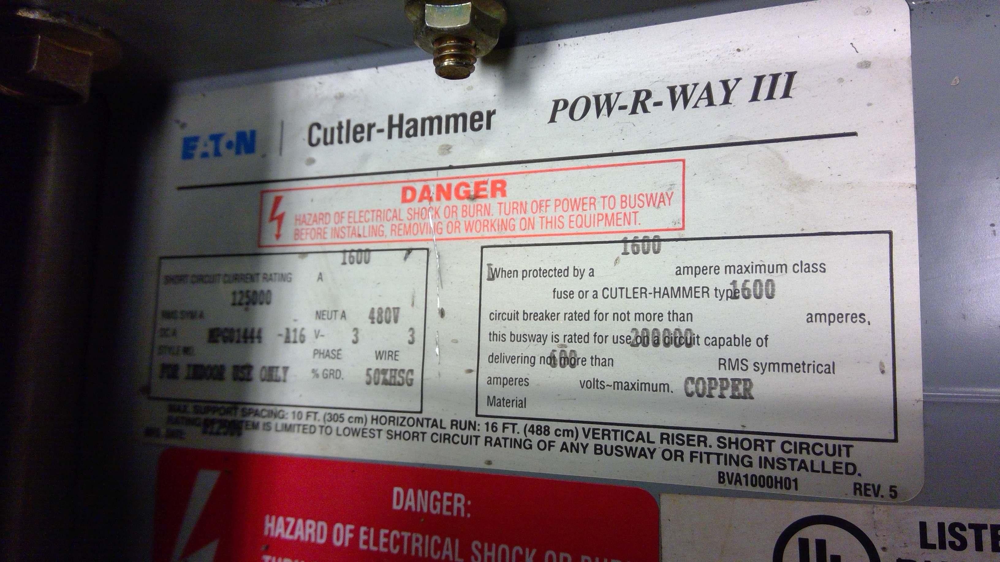 EATON CUTLER-HAMMER POW-R-WAY III ELBOW