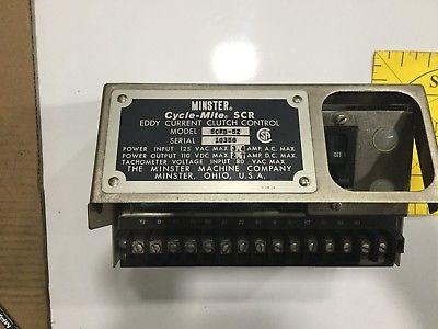 MINSTER CYCLE-MITE SCR SCRB-52 EDDY CURRENT CLUTCH CONTROL