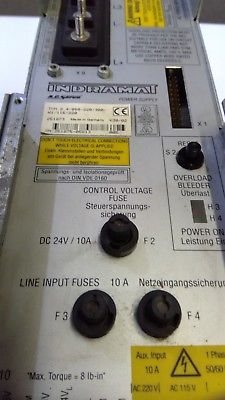 INDRAMAT A.C SERVO POWER SUPPLY TVM 2.4-050-220/300-W1/115/220