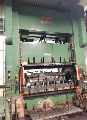 300 TON BLISS SC2-300-96-54 STRAIGHT SIDE PRESS