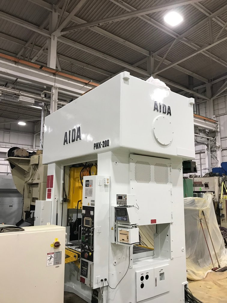 220 TON AIDA PMX-200 STRAIGHT SIDE DOUBLE CRANK PRESS