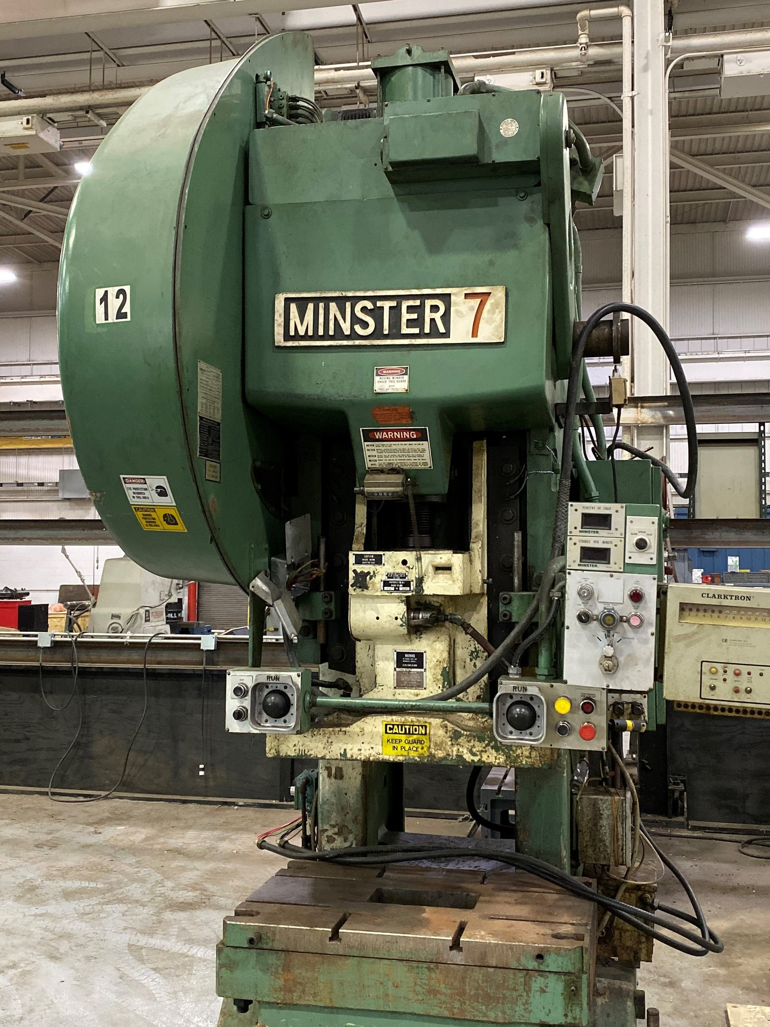 75 TON MINSTER #7 O.B.I. FLYWHEEL PRESS