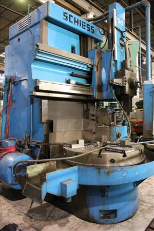SCHIESS 14 DKE 115 VERTICAL TURRET LATHE