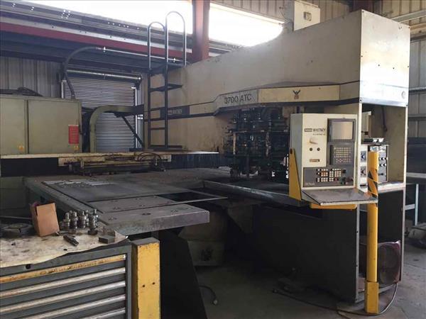 WHITNEY 3700-ATC COMBINATION CNC PUNCH AND PLASMA
