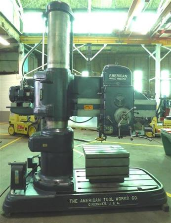 """AMERICAN HOLE WIZARD 4' X 15""""  RADIAL ARM DRILL"""