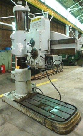 """AMERICAN HOLE WIZARD 4' X 13"""" RADIAL ARM DRILL"""