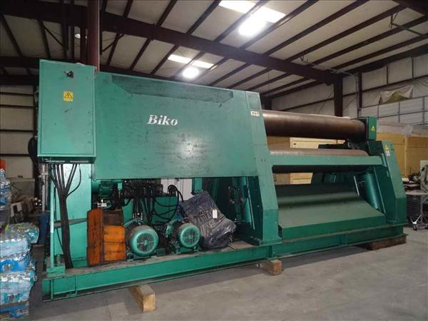 BIKO 3HCD 3-ROLL DOUBLE INITIAL PINCH HYDRAULIC PLATE BENDING ROLL, RECONDITIONED 2002