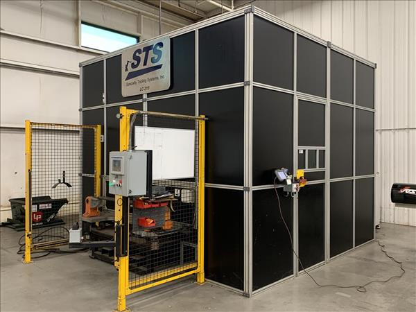 STS / IPG PHOTONICS LASER CUTTING CELL W/ ABB IRB4400 ROBOT, 2000W IPG YTTERBIUM YLS-2000 FIBER LASER