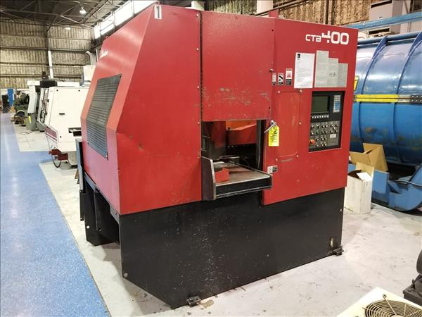 AMADA CTB400 CNC CARBIDE BLADE VERTICAL BAND SAW W/ CONVEYOR