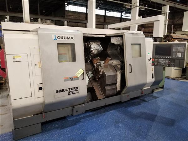 OKUMA SIMULTURN LU300 TWIN TURRET CNC LATHE