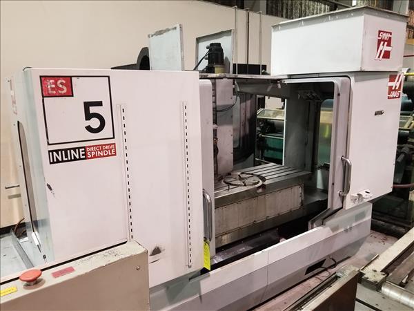 HAAS ES-5-4AX CNC HORIZONTAL MACHINING CENTER