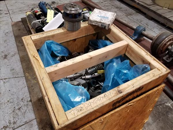 """24"""" X 24"""" X 24"""" BOX OF ASSORTED THICK TURRET PUNCH TOOLING, INCLUDING WILSON TOOL SERIES 80"""