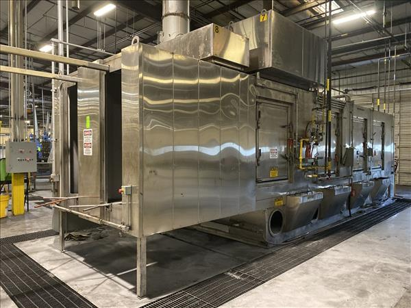 RANSOHOFF 4-STAGE STAINLESS STEEL MONORAIL WASH SYSTEM