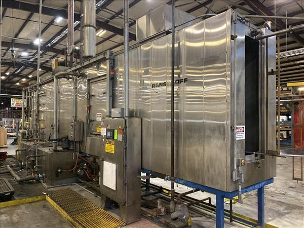 RANSOHOFF STAINLESS STEEL MONORAIL WASH SYSTEM