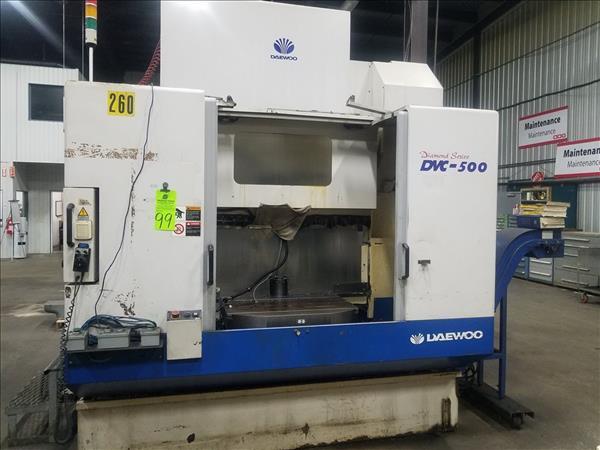 DAEWOO DVC 500 CNC VERTICAL MACHINING CENTER