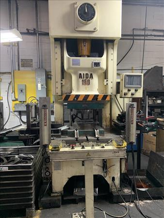 AIDA NC1-150(2) 165 TON SINGLE POINT OPEN BACK GAP FRAME PRESS