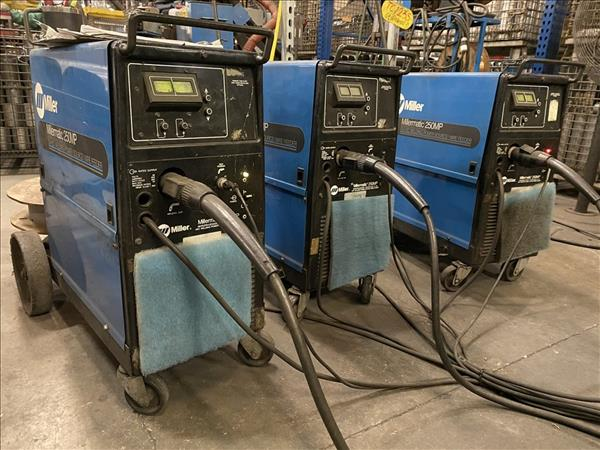 MILLER 250MP WELDING POWER SOURCES, (3) AVAILABLE