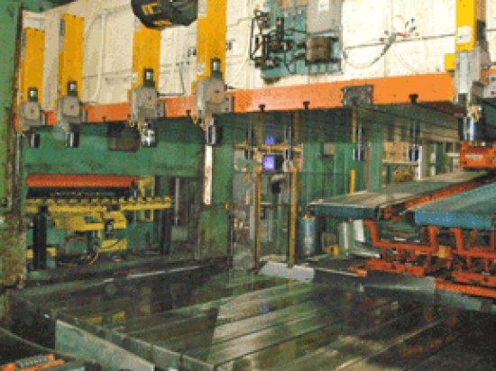 "500 Ton, CLEARING S4-500-186-108, 12""STR, 48""SH, 136""X108""BA, BLANK & FEED LINE"