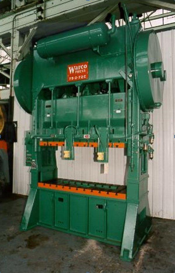 "75 Ton, WARCO 75-2-72C, 8""Str, 19""SH, 72""x26""BA, 45SPM, 14""Win, Cushions"