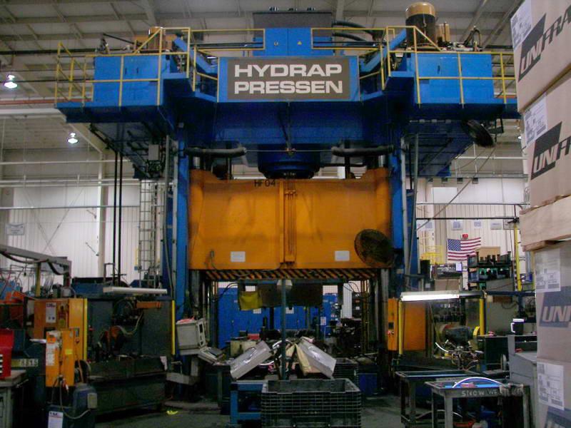 "1800 Ton, SCHULER HYDRAP MODEL HPD-S 1600, 43""Str, 130"" x 98""BA, HYDROFORM, 1996"