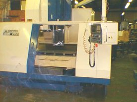 "VERTICAL MACHINING CENTER, DAEWOO ACE-V50, 40"" X AXIS, 20"" Y AXIS, 20"" Z AXIS, 1992"